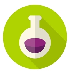 Poison Flask Circle Icon vector image