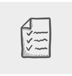 Checklist sketch icon vector image