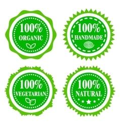 Green badges vector image