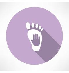 Leg and hand print icon vector