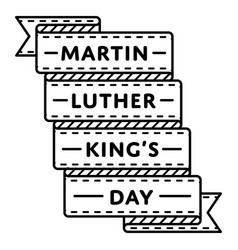 martin luther king day greeting emblem vector image vector image