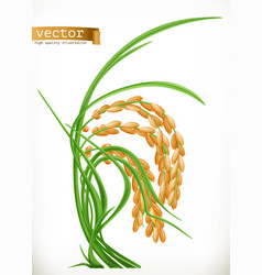 rice 3d icon vector image vector image