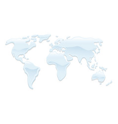 water world map vector image