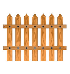 wooden sharp fence vector image vector image