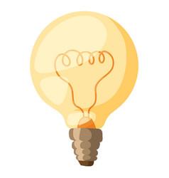 yellow light bulb isolated vector image