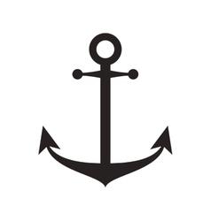 anchor silhouette sea design vector image