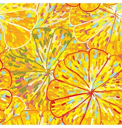 Citrus texture seamless pattern vector image