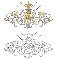 Coat of arms with cherub vector image
