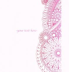 henna ink border vector image vector image