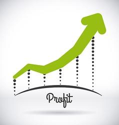 profit design vector image