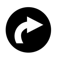 Right arrow isolated icon vector