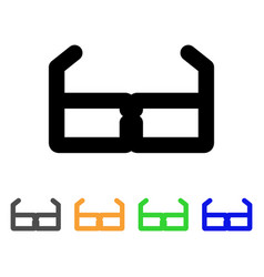 spectacles stroke icon vector image vector image