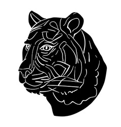 tiger avatar vector image vector image