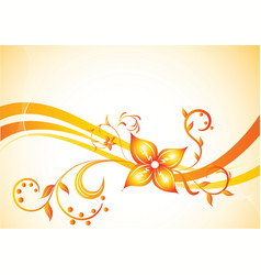 vector background with flower vector image vector image