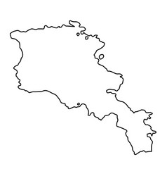 armenia map of black contour curves on white vector image