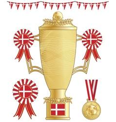 denmark football trophy vector image