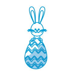 happy easter rabbit with cute egg vector image vector image