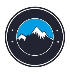 mountain emblem isolated icon vector image