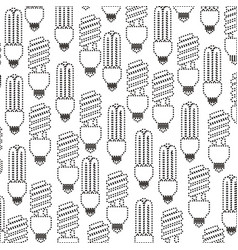 pattern contour modern light bulb off icon vector image