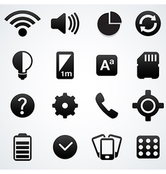 Phone setting icons vector image