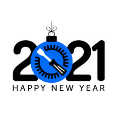 2021 happy new year fix new year concept with vector image
