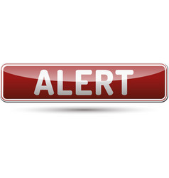 Alert button vector