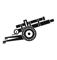 Artillery gun icon simple style vector