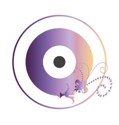 artistic purple evil eye vector image