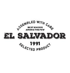 Assembled in El Salvador rubber stamp vector image