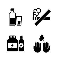 bad habits and hygiene simple related vector image