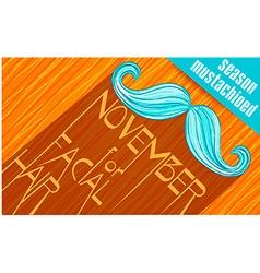 Banner Mustache Season 2 vector image