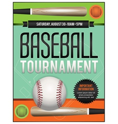 Baseball Tourney Flyer 2 vector image