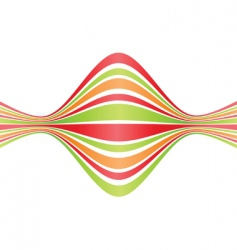 bent lines vector image