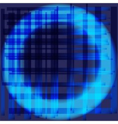 Blue abstract circle grid background vector