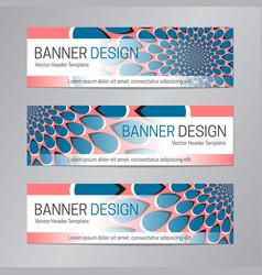 blue red banner design web header template vector image