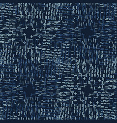 Boro fabric patch kantha texture darning vector