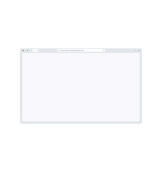 browser window mockup with empty space for website vector image