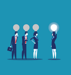 Bulb head manager concept business vector