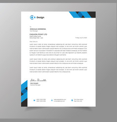 Business style letterhead template design vector