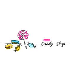candy shop simple web banner border vector image