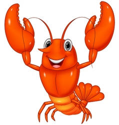 Cartoon lobster vector
