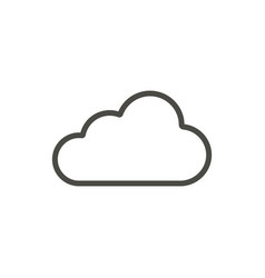 cloud icon line sky symbol vector image