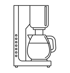 coffee maker icon outline style vector image