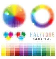 color halftone effects vector image