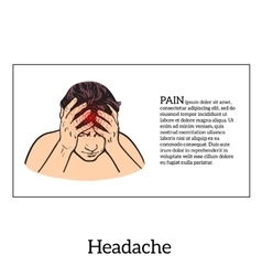 Concept headache sketch vector image