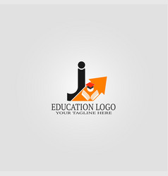Education logo template with j letter logo vector