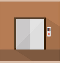 elevator icon set of great flat icons with style vector image