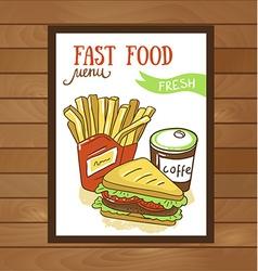 Fast food menu - Fast food poster vector
