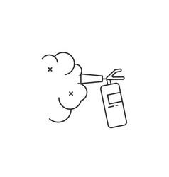 Fire extinguisher line precaution vector