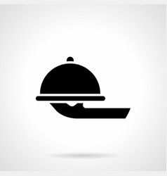 food serving tray glyph style icon vector image